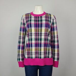 Charter Club Pink Plaid Cotton Sweater Size L